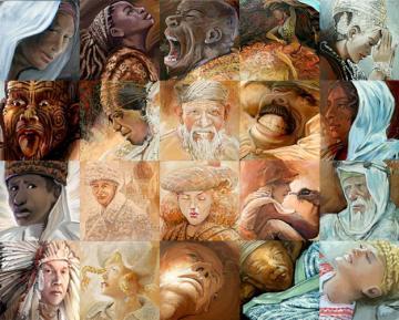 adam mozaic mural